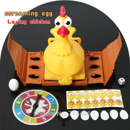 brinquedo de galinha engraçado Desconto Nova Sorte Gritando Ovo Deitado Frango Cluck Toy Set Jogo Engraçado Para Todos O Miúdo, Chuck Gritando Felizmente Chook Egg Anti Stress Toy