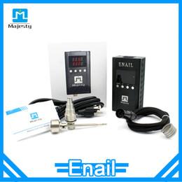 Wholesale Xlr Black - Portable domeless Enail best sale quartz enail coil heater with 5pin xlr plug Enail kit Majesty Enail