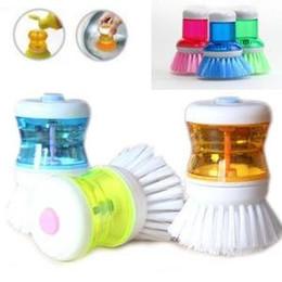 Sapone pennello online-La spazzola del piatto della palma con l'insieme di stoccaggio dell'erogatore del sapone liquido di lavaggio su liberamente libera il trasporto
