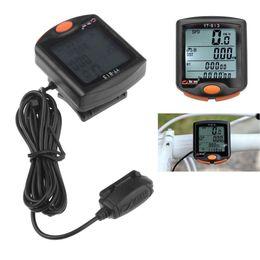 Wholesale Bike Speedometer Bogeer - BoGeer Multifunctional Waterproof Bicycle Computer Digital LCD Backlit Cycling Bike Speedometer Odometer YT-813