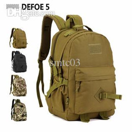 Wholesale Large Military Backpacks - Wholesale-40L Military Tactical Large Outdoor Sports Backpack Rucksacks For Explorer Hiking Camping Trekking Gym Waterproof Molle bags