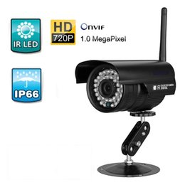 "Wholesale Security Wlan - ip camera outdoor 1 4"" 1.0 M CMOS Sensor Wireless 720P HD WLAN H.264 Waterproof Security CCTV WiFi IP Camera Ship from US"