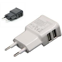 Apfel wand ladegerät ausgang online-2017 neue Dual USB Ausgang Ports 2.0A Eu-stecker Ladegerät AC Netzteil für Galaxy S5 iPhone iPad