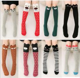Wholesale Kids Designer Socks - Kids Fox Socks 42CM Leg Warmers children Knee High Animal socks Cartoon Brand Designer socks Baby Girl Children Kawaii Sock