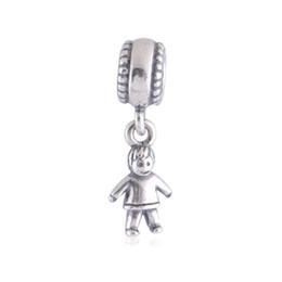 Wholesale boy charms sterling silver - 2016 Charms Pandora Silver Boy 925 Ale Sterling Silver Loose Beads Pendant Diy Jewelry For Thread Bracelet GP-F02 Christmas Valentine's Gift