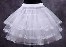 Wholesale Fancy Dress Accessories - Wholesale Cheap White Short Ball Gown Petticoat Dresses Underskirts Crinoline Bridal Accessories Prom Petticoats Fancy Women Skirt