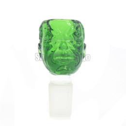 Fumar Dogo Mais Recente de Vidro Sólido o Incrível Hulk Tigelas De Vidro Gigante Verde para Bongos com Ambos 18.8mm e 14.4mm Macho Comum de