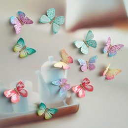 Wholesale Accessories Clip Art - 4CM 100pcs Mix Colors Fabric Colorful Butterfly No Fade DIY Jewelry Accessories for Girl Clip Earrings Hairband Butterflies Art Decor
