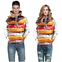 2016 цифровой 3D печати толстовки будет толстовки пончик пара одежда творческий личность пара плюс размер свободные толстовки женская одежда от
