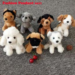 Wholesale Gift Bags Fashion Dolls - Fashion Cute Plush Doll Dog Toy Key Chain Ring Woman Bag Charms Faux Rabbit Fur PomPom Car Keychain Party Gift