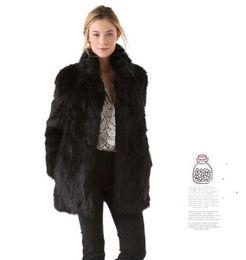 Wholesale Long Khaki Jacket Womens - Fashion Womens Faux Fur Long Sleeve Stand Collar Winter Warm Coat Ladies Long Body Slim Outwear Jacket Faux Fur coat Free Shipping WT90