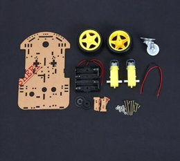 Wholesale Robot Encoder - 1 pcs New Motor Smart Robot Car Chassis Electronic Manufacture DIY Kit Speed Encoder Battery Box 2WD For Arduino Robot