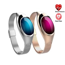 Wholesale Heart Rate Monitors Women - Z18 Color Smart Wristbands Women Luxury Sports Bracelet Watch Waterproof IP67 For IOS & Android With Blood Pressure And Heart Rate Monitor