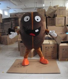 Wholesale Coffee Bean Halloween Costume - Factory Outlets new arrive The naughty Coffee Bean Halloween Fancy Dress Cartoon Adult Animal Mascot Costume free shipping
