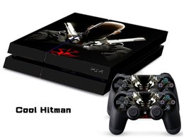 Wholesale COOL HITMAN DECAL SKIN PROTECTIVE STICKER for SONY PS4 CONSOLE CONTROLLER
