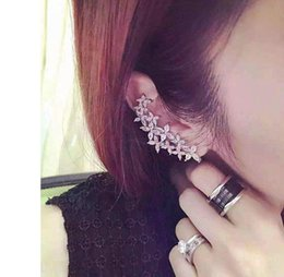 Wholesale Ear Cuff Right - Right and left asymmetric design new arrival brand Cubic Zirconia ear cuff earring for women high quality CZ fashion jewelry xc