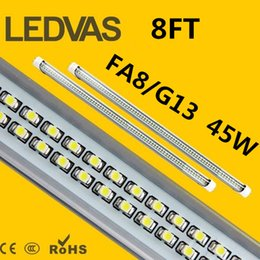 "Wholesale Daylight Led Tube Lamp - LEDVAS 45w 8ft T8 T10 480PCS LED chips LED Tube Lamps 120w Fluorescent Replacement 96"" 2400mm SMD Energy Saving Light Fixture Daylight"