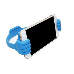 Wholesale pink thumbs - 2018 Universal phone stand Holder Phone Clip Desktop Holder stand Thumb bracket for IP 4 5 6 6plus Samsung S3 S4 S5 Note 2 3 and mini tablet