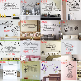 Wholesale Decorative Art Paper Wholesale - New Arrivals Removable Quotes Wall Stickers Nusery Rooms Decorative Wall Decals Home Wallpaper Wall Art wall paper free shipping