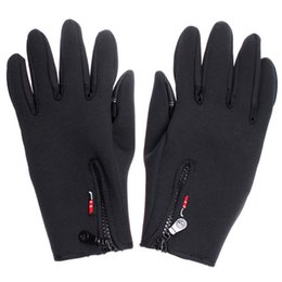 Wholesale Gloves Woman Leather Long - Outdoor Sports Winter Warm Leather Gloves Men Women Cycling Bike Hiking Motorcycle Ski Long Tactical Gloves H4982