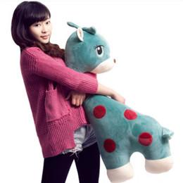 Wholesale Giant Stuffed Animals For Kids - 39''   100cm Cute Giant Plush Stuffed Giraffe Toy Soft Anime Deer Pillow Doll Gift for Kids Girls