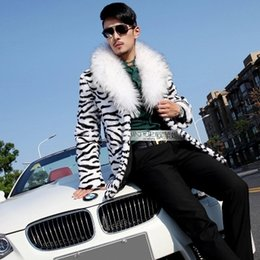 Wholesale Rabbit Fur Coat Men - Fall-2015 new men's imitation fur shawl collar jacket imitation rabbit fur coat fox fur long section coat Free shipping F104#
