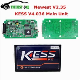 Wholesale Dtc Audi - Newest V2.35 V4.036 Main Unit Kess V2 Master OBD2 Manager Tuning Kit Remove DTC ECU Programmer Chip Tool For Multi-Brands