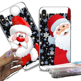 protetores de celular Desconto Ultra fino caso tpu casos de telefone celular de cristal transparente macio tpu capa de silicone protetor de celular caso presente de natal para iphone samsung