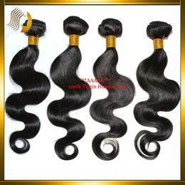 Wholesale Buy Remy Human Hair - Cheap Sale!! Buy 3 Get 1 Free Cheap Hair Bundles Weft Remy Brazilian Virgin Human Hair Extensions Body Wave 5A Peruvian Indian Hair Weaves
