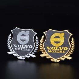Emblemas de volvo on-line-2 Pcs Refinamento 3D logotipo Emblema Emblema Gráficos Adesivo Decalque Do Carro VOLVO