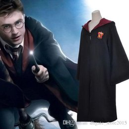 Wholesale Blue Cloak Costume - NewRetro theme Costume Hight quality Magic robe cloak Harry Potter Gryffindor school uniforms Cosplay costume magic clothes
