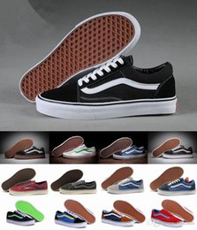 Wholesale Woman Shoes Size 43 - Unisex Old Skool Canvas Shoes Classic White Black Brand Women And Mens Mid Skateboarding Sneakers Casual Shoes size 36-43