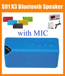 Alta promozione S01 X3 OY Classica X3 S01 Mini portatile senza fili con Bluetooth Altoparlanti HIFI Altoparlanti Slot per schede TF Radio FM con MIC MIS001 cheap mini x3 bluetooth speaker da altoparlante bluetooth mini x3 fornitori