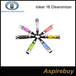 Wholesale Iclear 16 Dual Coil Head - Authentic Innokin IClear 16 Clearomizer with Dual Coil Electronic Cigarette Ecig Atomizer Coil head Iclear16 Replaceable Head Coils 2.1ohm