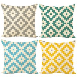 Wholesale Brown Modern Sofa - Nordic Geometry Elegant fresh Modern simplicity Pillow Cover Home Decorative Pillows Linen Pillow Case Office Sofa Cushion Cover AL001A031