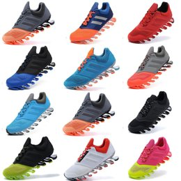 Wholesale Shoes Men Springblade - 2015 New Springblade Drive 2.0 Running shoes size 40-45 for men sport running shoes black with green color hot sale fashion Sports Shoes