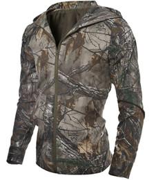 Wholesale Cheap Windbreaker - Wholesale- Fashion Jacket men clothes Hooded Coats Army Hunter Casual Zipper camouflage windbreaker Long Sleeve Wears cheap Clothing