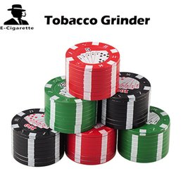 Wholesale Poker Grinders Wholesale - Tobacco Grinder Three Layers Poker Grinder Metal Grinder brand new high quality E-cigarette Accessories fit Tobacco Herb Spice Pollen 14013
