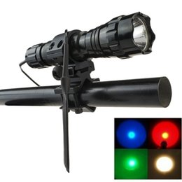 Wholesale Pressure Barrels - Wholesale-Best Price!! Freeshipping CREE 1000 Lumen Tactical Combat LED Flashlight with Pressure Switch Barrel Mount