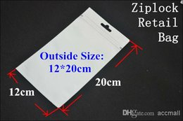 Wholesale Mobile Packaging Plastic White - 12*20cm Clear + White Plastic Packaging Bag Ziplock Poly OPP PVC Retail Packages for Samsung S5 S4 S3 S2 Note 2 3 Mobile Phone Leather Case