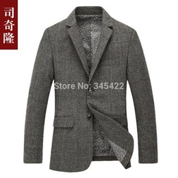 Wholesale Dark Grey Male Casual Suit - Wholesale-2015 top hot fashion winter and autumn wool blazers male outerdoor wool suit jackets casual overcoat free shipping