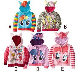 Wholesale Clothes Kids Ch - new My little pony girl children zipper hooded Hoodies Outwear children outerwear kids long sleeve hoody fleece kid clothing Sweatshirt ch-1