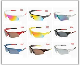Wholesale Mix Order Sunglasses - 2015 designer sunglasses Fashionable sport Glasses with Colorful Lens for Outdoor Cycling Climbing Mixed order 15 colors for man &women