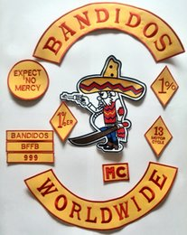 Wholesale Embroidered Iron - Iron On Patches Bandidos Patches For Jacket Custom Motorcycle Vest Embroidered Mc Patches