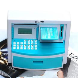 Wholesale Coin Bank Atm - Mini ATM Bank Toy Digital Cash   Coin Storage Save Money Box ATM Bank Machine Money Saving Piggy Bank Kids Gift
