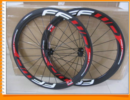 Wholesale Road Bike Tubular - Fast Forward FFWD Carbon Wheels Red Written Clincher 50mm 700C Wheelset Glossy 3k ud ceramic bearing