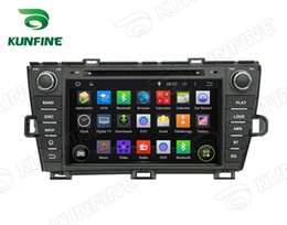Wholesale Dvd Player For Prius - Quad Core 1024*600 Screen Android 5.1 Car DVD GPS Navigation Player for Toyota Prius 09-13 Left driving Radio Wifi steering wheel control