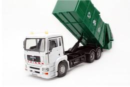 Camion tedeschi online-Giocattolo del modello del camion della lega di grande dimensione, carrello tedesco di pulizia, modello dell'automobile di risanamento, veicoli di simulazione di precisione, per il regalo si raccoglie, trasporto libero