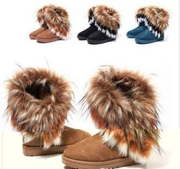 Wholesale Imitation Rabbit Fur - 2015 Hot sale Warm and comfortable winter fur boots imitation fox wool rabbit hair boots Female in tube of cotton boots Warm cotton shoes
