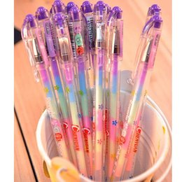 Wholesale Cute Highlighters - New 1pc Lovely Cute Highlighter Marker Stationary 6 Color Pen Students Ballpen For Children Drop Shipping